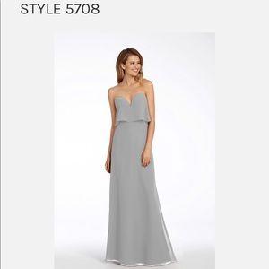 Hayley Paige Bridesmaid Dress in Platinum